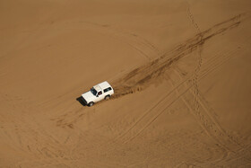 Off-roading in Maranjab Desert