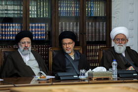 Iran's Judiciary Chief Ebrahim Raeisi (L) is present in the meeting of Iran's Supreme Council of Cultural Revolution, Tehran, Iran, December 10, 2019.