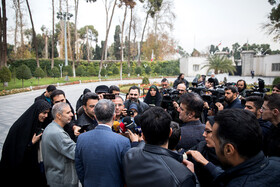 On the sidelines of the session of Iran's cabinet ministers, Tehran, Iran, December 11, 2019.
