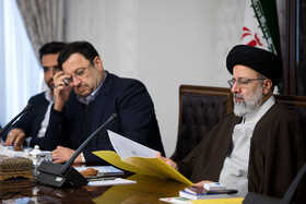 Iran's Judiciary Chief Ebrahim Raeisi (R) is present in the meeting of the Supreme Council of Cyberspace, Tehran, Iran, December 14, 2019.