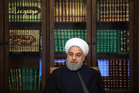 Iranian President Hassan Rouhani is present in the meeting of the Supreme Council of Cyberspace, Tehran, Iran, December 14, 2019.