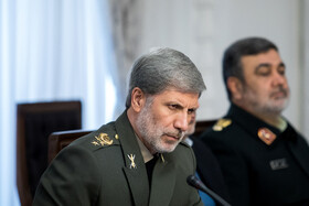 Iran's Defense Minister Brigadier General Amir Hatami is present in the meeting of the Supreme Council of Cyberspace, Tehran, Iran, December 14, 2019.