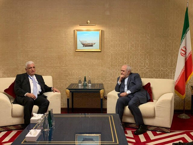 Iran's FM, Iraq's National Security Adviser meet in Doha