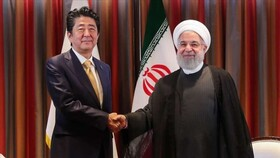 Iran's Rouhani, Japan's Abe hold private talks