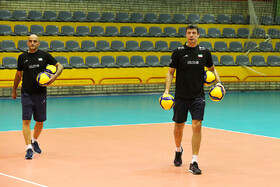 The training session of Iran men's national volleyball team, Tehran, Iran, December 30, 2019. Iran will compete in the 2020 Men's Asian Olympic Qualification in China.