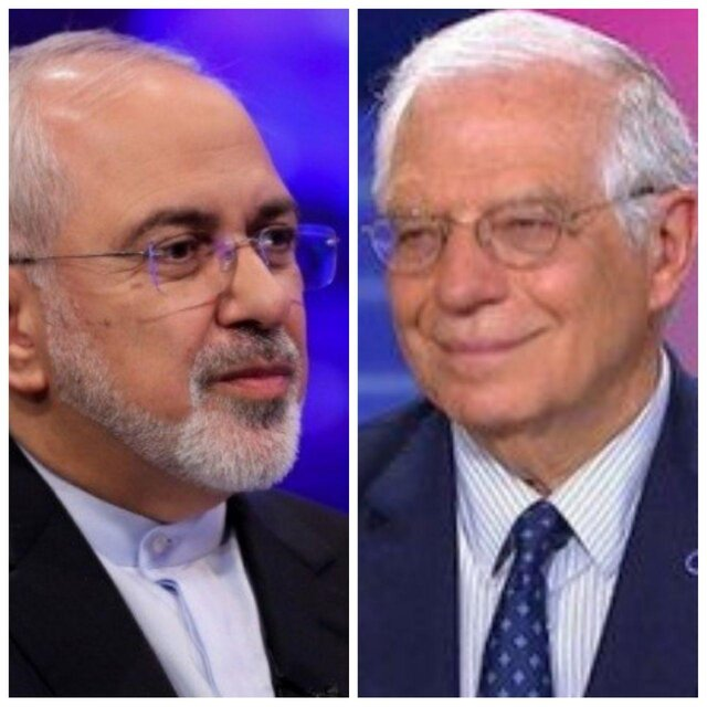 Iran FM, EU foreign policy chief hold phone conversation