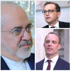 FM Zarif Holds Talks with German, British Counterparts