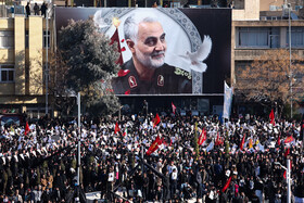 Massive crowds of People attend the burial ceremony of Lieutenant General Qassem Soleimani, Kerman, Iran, January 7, 2020.