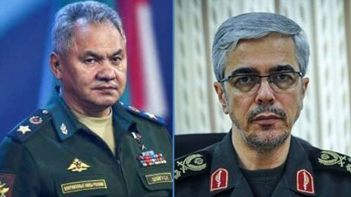 Iran's Chief of Staff, Russia's Defense Minister hold phone call