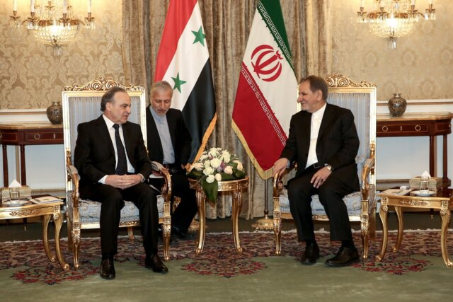 Iran's First VP officially welcomes Syrian PM