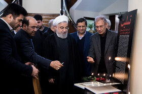 Iranian President Hassan Rouhani is seen on the sidelines of the session of Iran's cabinet ministers, Tehran, Iran, January 15, 2020.
