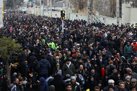 A huge number of Iranians are present in the Friday prayers in Tehran, Iran, January 17, 2020.