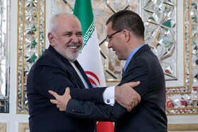 On the sidelines of the meeting between Iranian Foreign Minister Mohammad Javad Zarif and Venezuelan Foreign Minister Jorge Alberto Arreaza Montserrat, Tehran, Iran, January 20, 2020.