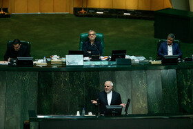Iranian Foreign Minister Mohammad Javad Zarif is seen in the public session of Iran's Parliament, Tehran, Iran, January 20, 2020.