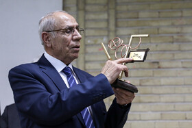 Professor Megerdich Toomanian is seen during a ceremony held for honoring him, Tehran, Iran, January 23, 2020.