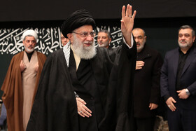 The second night of the mourning ceremony for the martyrdom of Hazrat Fatemeh Zahra is held in the presence of Iran's Leader and senior Iranian officials, Tehran, Iran, January 27, 2020.