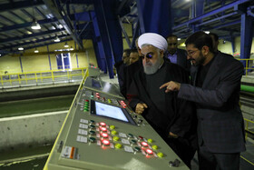 The opening ceremony of Phase II of Tehran's 7th water treatment plant is held in the presence of Iranian President Hassan Rouhani, Tehran, Iran, January 28, 2020.