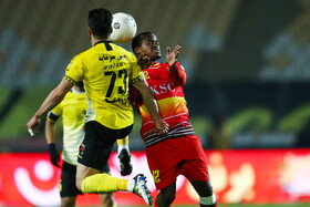 The football match between Sepahan FC (yellow kit) and Foolad FC, Isfahan, Iran, January 31, 2020.