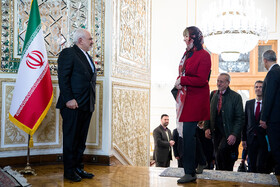 On the sidelines of the meeting between Iranian Foreign Minister Mohammad Javad Zarif and Europe's new foreign affairs chief Josep Borrell, Tehran, Iran, February 3, 2020.