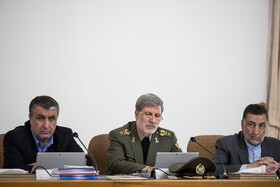 Iranian Defense Minister Brigadier General Amir Hatami (M) and Iran's Justice Minister Alireza Avayi (R) are present in the session of Iran's cabinet ministers, Tehran, Iran, February 5, 2020.
