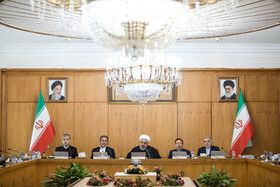 The session of Iran's cabinet ministers is held under the chair of Iranian President Hassan Rouhani, Tehran, Iran, February 5, 2020.