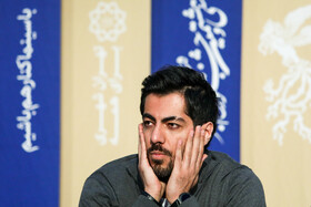 """Actor Navid Pourfaraj is present in the press conference of """"Bone Marrow"""" on the fifth day of the 38th Fajr Film Festival, Tehran, Iran, February 5, 2020."""