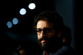 """Actor Behrouz Shoeibi is present in the press conference of """"Bone Marrow"""" on the fifth day of the 38th Fajr Film Festival, Tehran, Iran, February 5, 2020."""