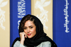 """Actress Parinaz Izayar is present in the press conference of """"Bone Marrow"""" on the fifth day of the 38th Fajr Film Festival, Tehran, Iran, February 5, 2020."""