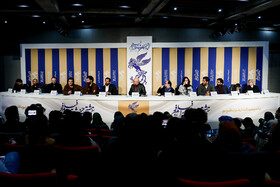 """The film crew of """"Bone Marrow"""" attends a press conference on the fifth day of the 38th Fajr Film Festival, Tehran, Iran, February 5, 2020."""
