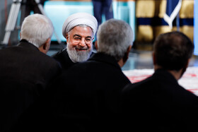 "Iranian President Hassan Rouhani is present in the ceremony of the 37th edition of ""Iran's Book of the Year Awards"", Tehran, Iran, February 5, 2020."