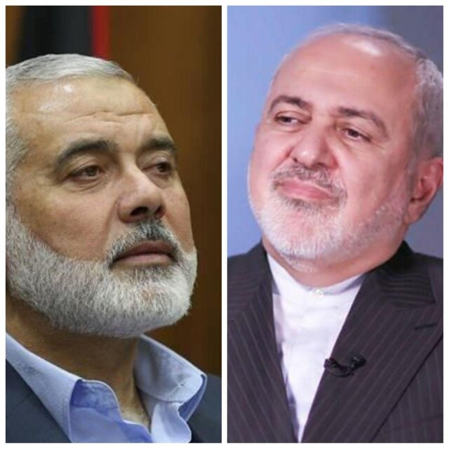 Iran FM, Ismail Haniyeh discuss Palestine's latest developments