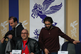 """The press conference of the film crew of """"Day of Uprising"""" on the fifth day of the 38th Fajr Film Festival, Tehran, Iran, February 5, 2020."""