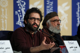 """Film director Behrouz Shoeibi is present in the press conference of """"Day of Uprising"""" on the fifth day of the 38th Fajr Film Festival, Tehran, Iran, February 5, 2020."""