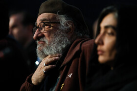 """Actor Dariush Arjmand is present in the press conference of """"Day of Uprising"""" on the fifth day of the 38th Fajr Film Festival, Tehran, Iran, February 5, 2020."""