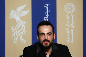 """Actor Hamed Komeili is present in the press conference of """"Good, Bad, Garish 2: The Secret Army"""" on the fifth day of the 38th Fajr Film Festival, Tehran, Iran, February 5, 2020."""