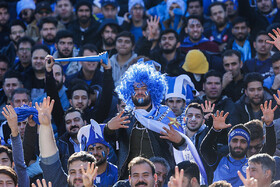 On the sidelines of the football match between Esteghlal FC and Persepolis FC, Tehran, Iran, February 6, 2020.
