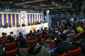 """The film crew of """"The Under Cover"""" is present in the press conference of the 38th Fajr Film Festival, Tehran, Iran, February 7, 2020."""