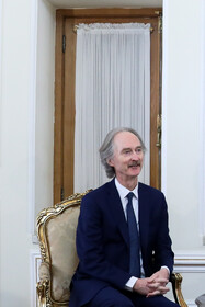 The UN special envoy for Syria Geir Pedersen is seen during his meeting with Iranian Foreign Minister Mohammad Javad Zarif, Tehran, Iran, Frbruary 8, 2020.