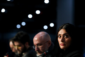 "The film crew of ""Conflict"" is present in a press conference on the eighth day of the 38th Fajr Film Festival, Tehran, Iran, February 8, 2020."