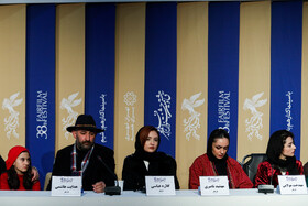 "The film crew of ""Fathers"" is present in a press conference on the eighth day of the 38th Fajr Film Festival, Tehran, Iran, February 9, 2020."
