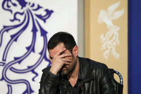 """Actor Shahab Hosseini is present in the press conference of """"Shin"""" on the eighth day of the 38th Fajr Film Festival, Tehran, Iran, February 8, 2020."""