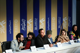 "The film crew of ""Skin"" is present in a press conference on the ninth day of the 38th Fajr Film Festival, Tehran, Iran, February 9, 2020."