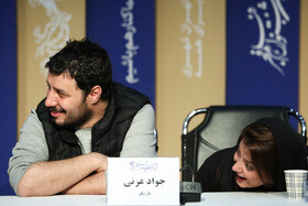"""The film crew of """"The Sun"""" is seen during a press conference on the final day of the 38th Fajr Film Festival, Tehran, Iran, February 10, 2020."""
