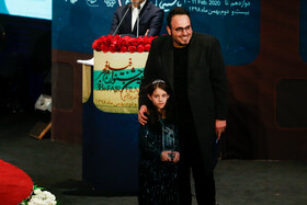 "Film director Mohammad Hossein Mahdavian wins Best Director Crystal Simorgh for ""Walnut Tree"" during the closing ceremony of the 38th Fajr Film Festival, Tehran, Iran, February 11, 2020."