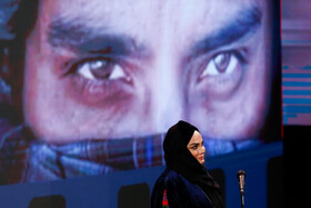Film director Narges Abyar is present during the closing ceremony of the 38th Fajr Film Festival, Tehran, Iran, February 11, 2020.