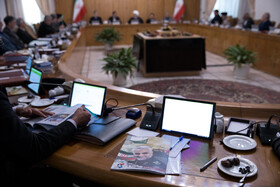 The session of Iran's cabinet members is held under the chair of Iranian President Hassan Rouhani, Tehran, Iran, February 12, 2020.