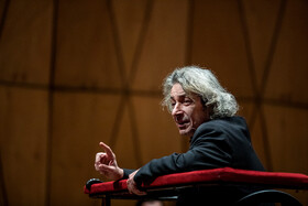 Composer and conductor Nader Mashayekhi is seen on the second day of the 35th Fajr Music Festival, Tehran, Iran, February 14, 2020.