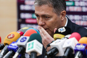 Dragan Skočić, the new head coach of Iran Men's National Football Team, is seen during a press conference, Tehran, Iran, February 15, 2020.