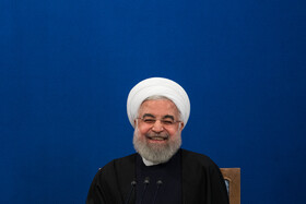 Iranian President Hassan Rouhani is seen during a press conference held in the presence of domestic and foreign correspondents, Tehran, Iran, February 16, 2020.