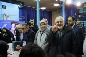 Iranian Foreign Minister Mohammad Javad Zarif casts his vote in the 11th parliamentary and Assembly of Experts elections, Tehran, Iran, February 21, 2020.